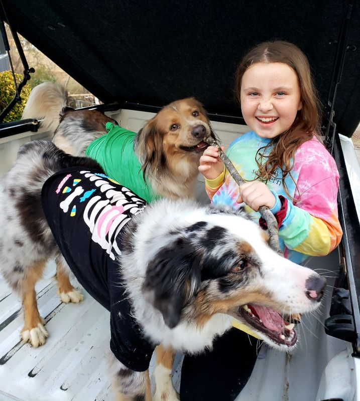 Our Niece & Our Dogs