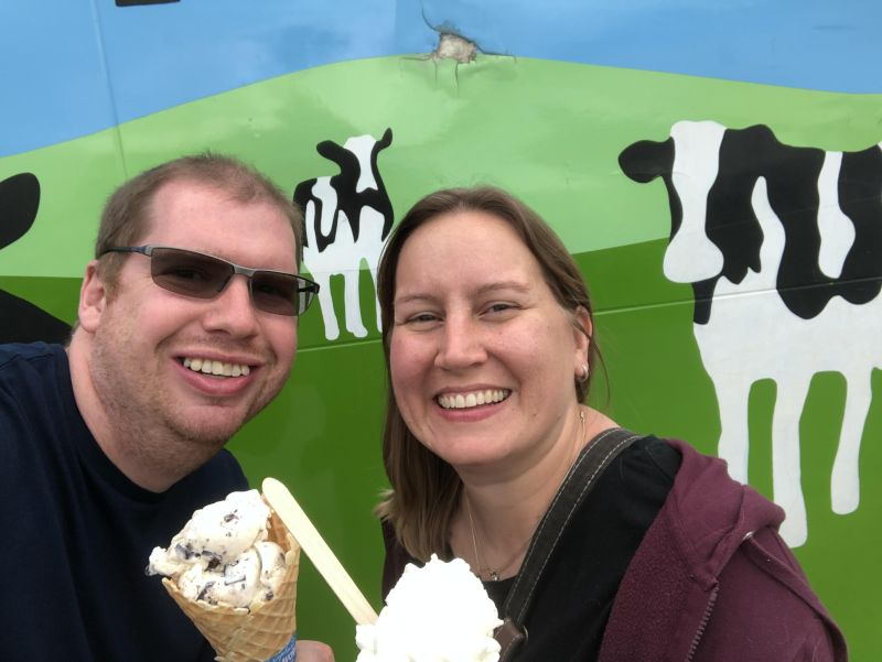 Stopping at Ben and Jerry's Factory