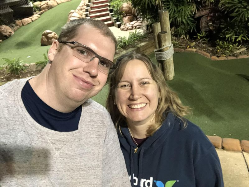 Playing Minigolf in Arkansas While on Vacation