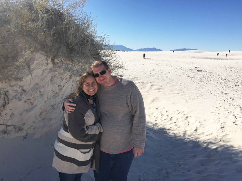 At White Sands National Park in New Mexico