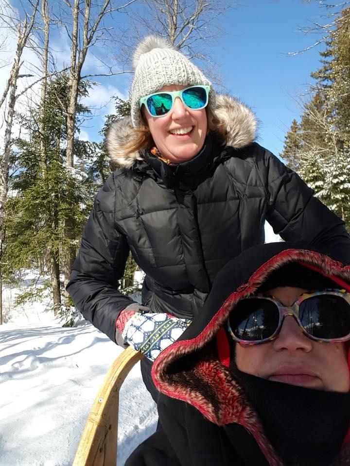 Alison & Her Mom Dogsledding in Quebec