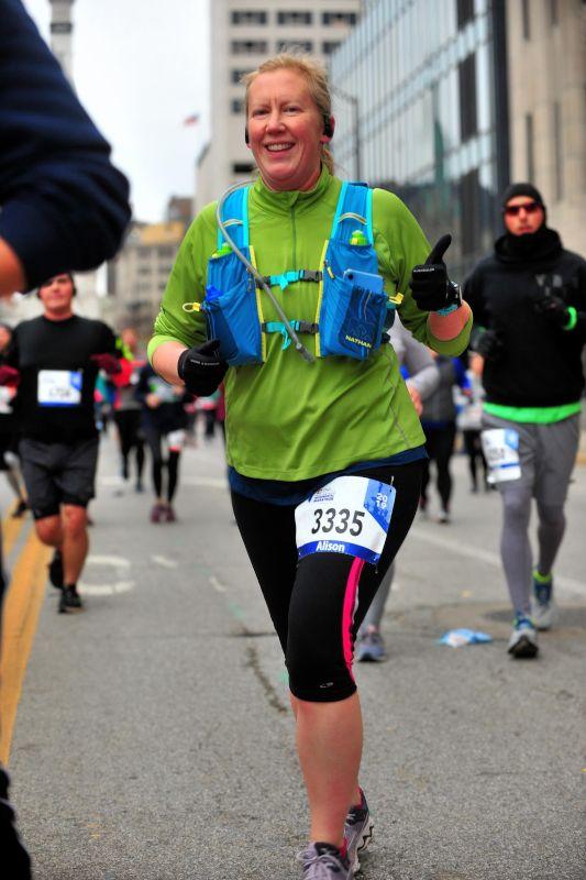 Alison Running a Marathon
