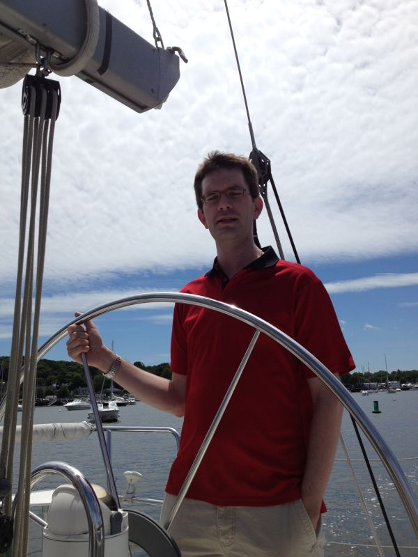 Mort Sailing on the Long Island Sound