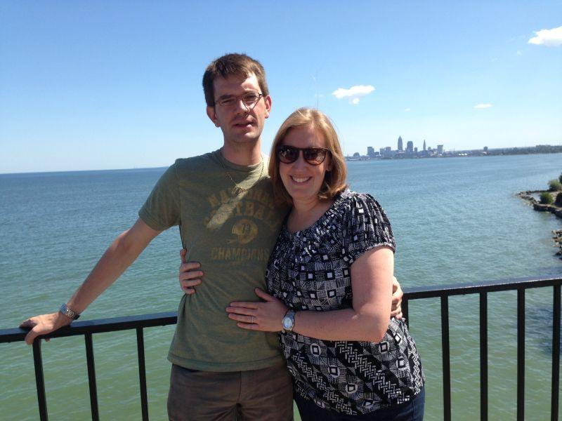 Cleveland Skyline on Lake Erie
