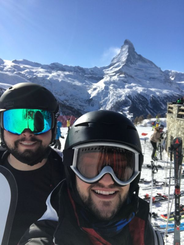 Skiing at the Matterhorn