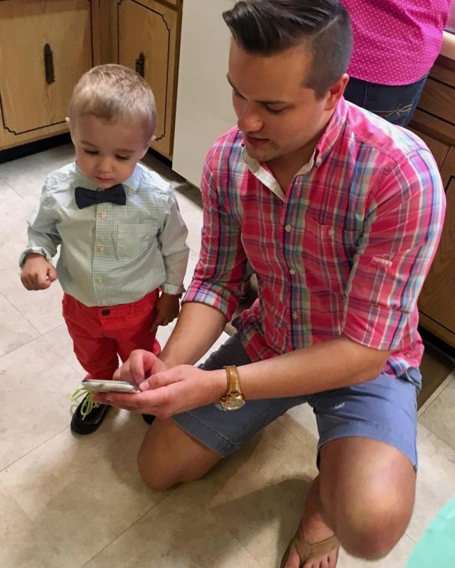 Gene with his Nephew  Asher