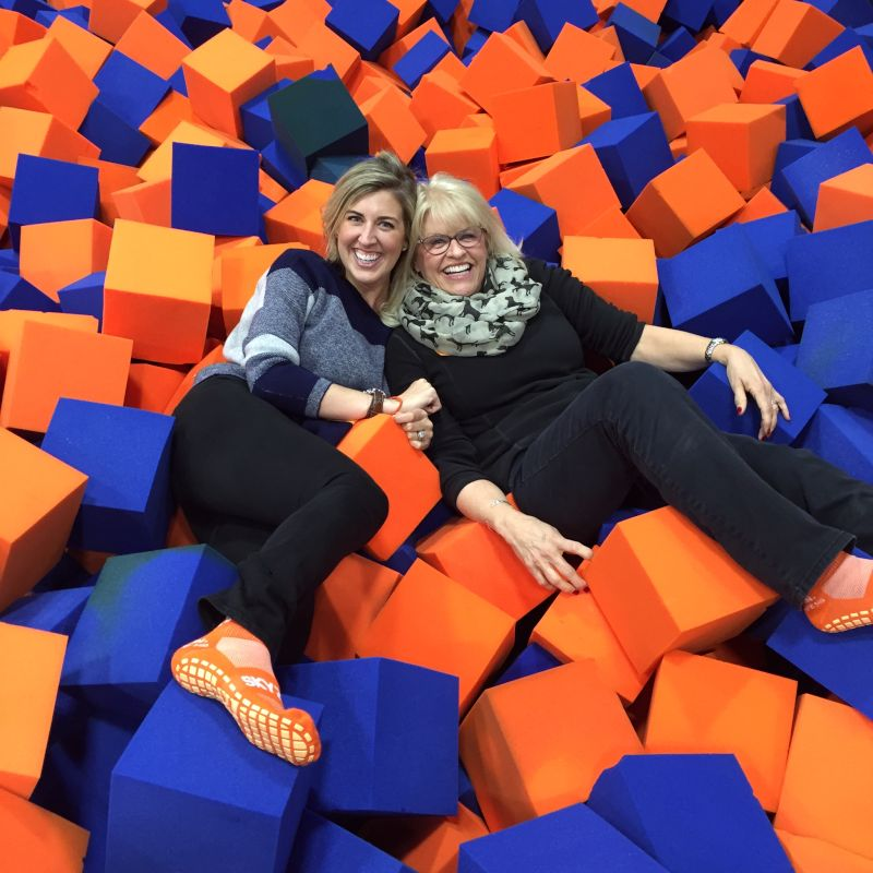 Girls Outing at a Trampoline Park