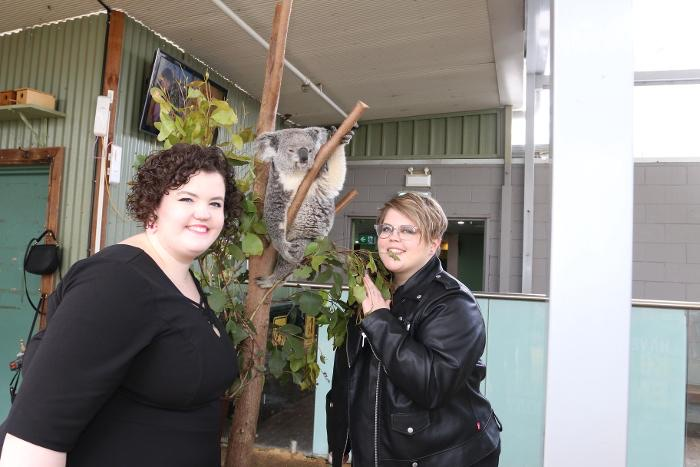 With a Koala at the Sydney Zoo