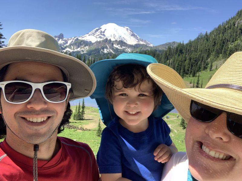 In Front of Mt. Rainier