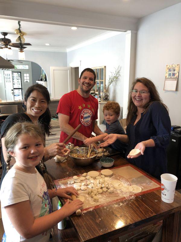 Making Dumplings With Friends