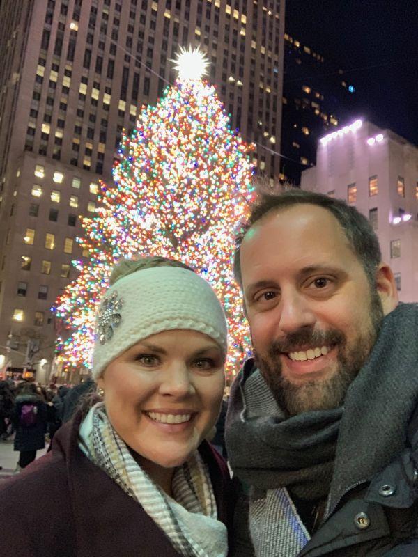 At the Rockefeller Center Tree Lighting