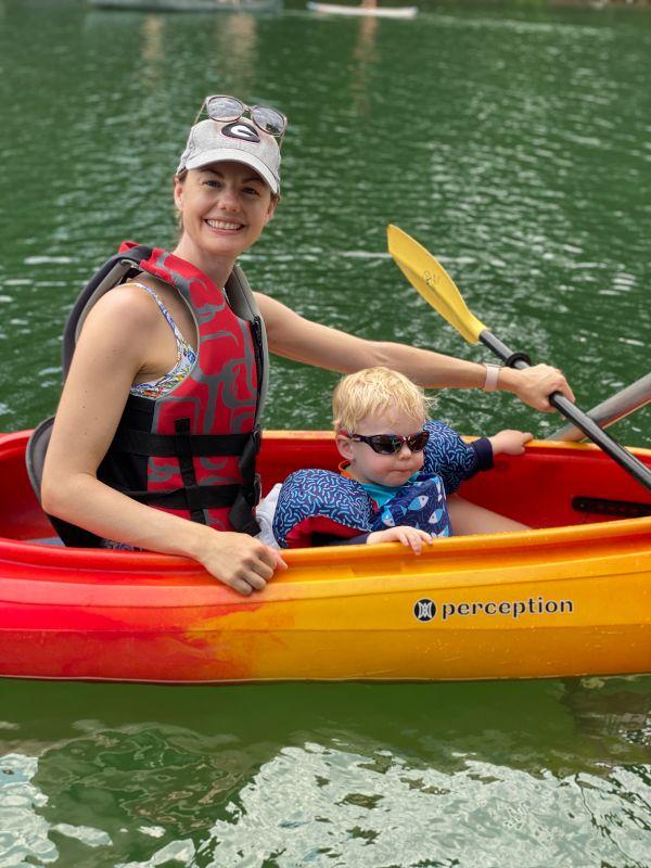 Kayaking at the Lake