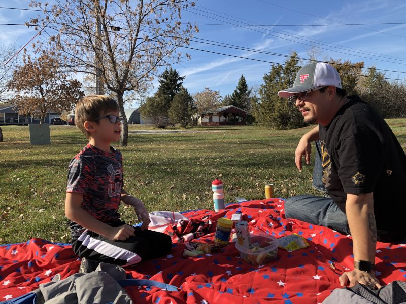 Weekend Picnic at a Community Park