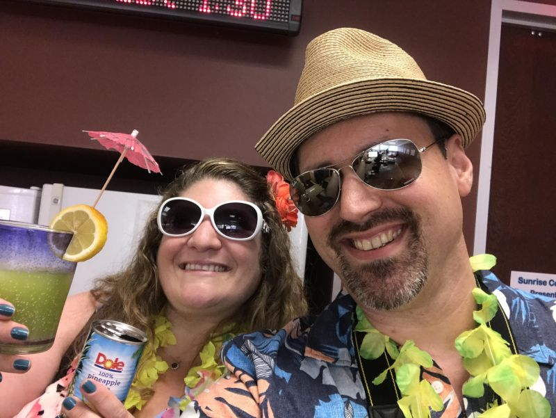 Dressing Up as Tourists for a Summer-of-Fun Event at Work