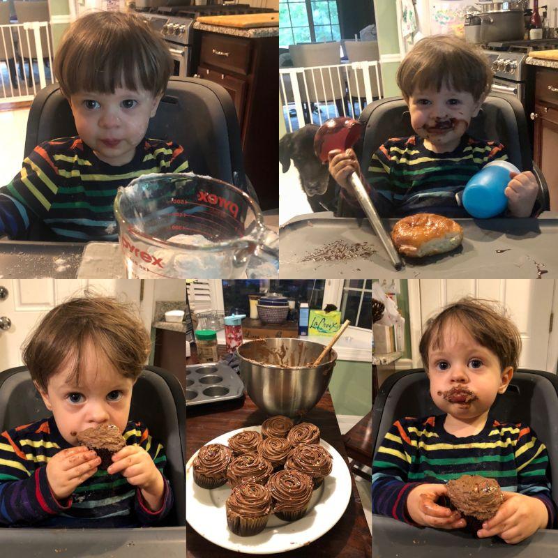 Baking Finn's First Cupcakes