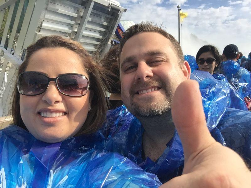 On a Boat Seeing Niagara Falls