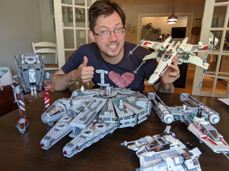 Jonathan and his LEGO Star Wars Collection