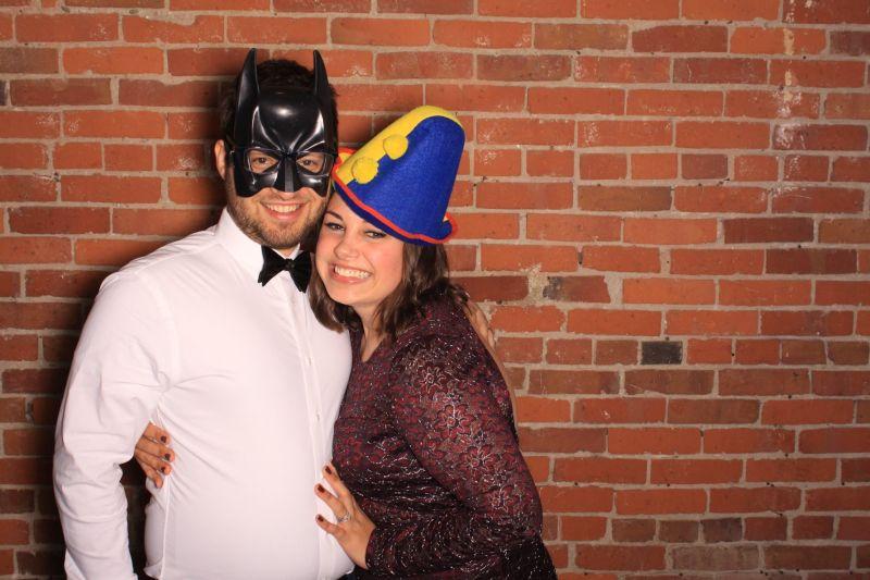 Fun at a Wedding Photo Booth