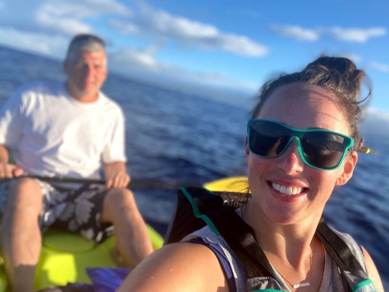 Rachel & Her Dad Kayaking