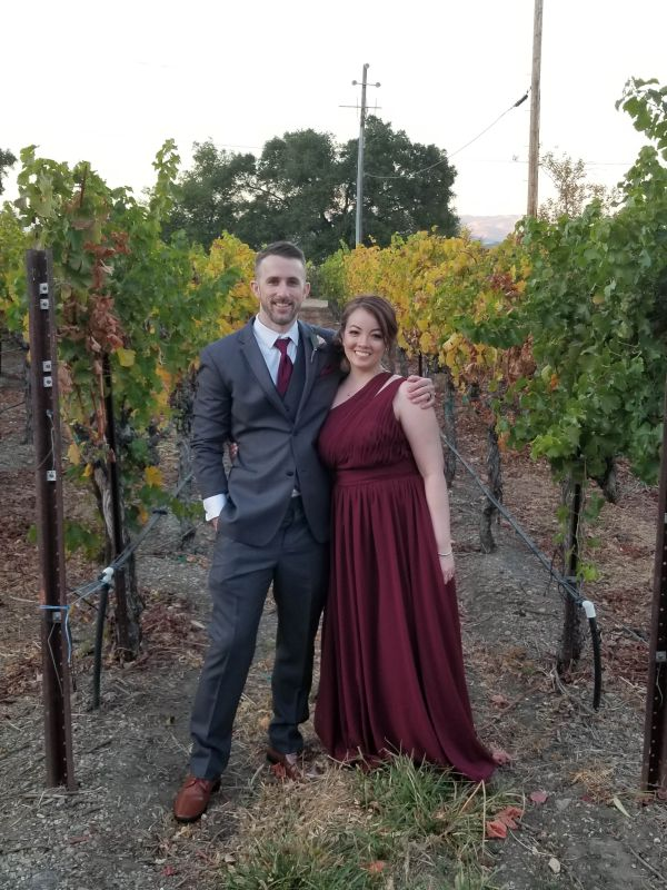 All Dressed Up for a Vineyard Wedding