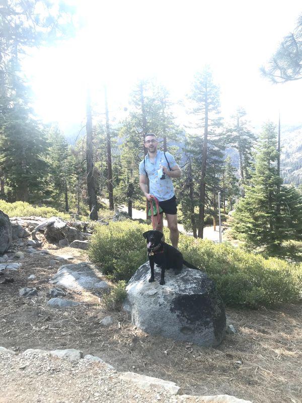 Kevin & Buddy Hiking