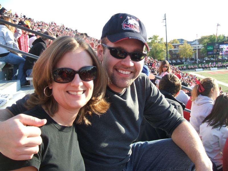 Cheering at a Football Game