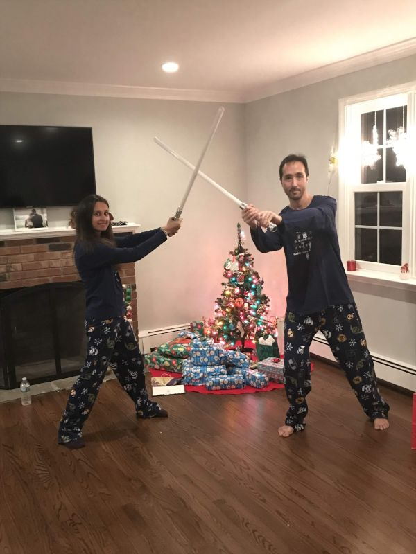 Christmas Lightsaber Duel!
