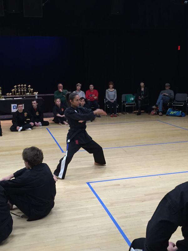 Neeta at a Karate Tournament