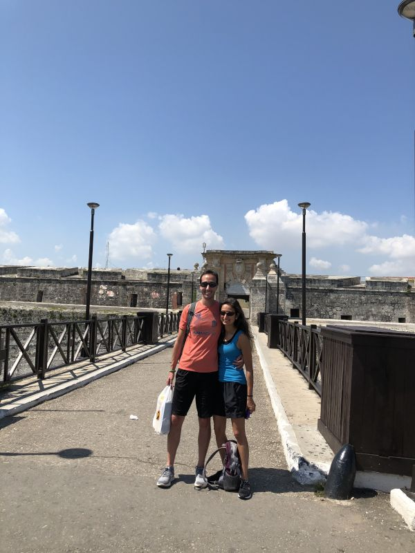 Visiting a Fort in Cuba
