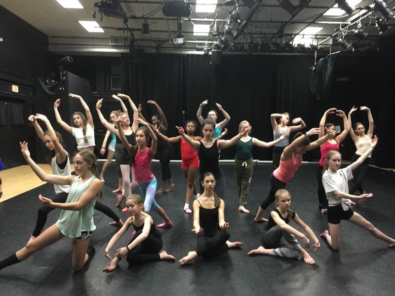 Neeta Choreographs Dances at the Community Center