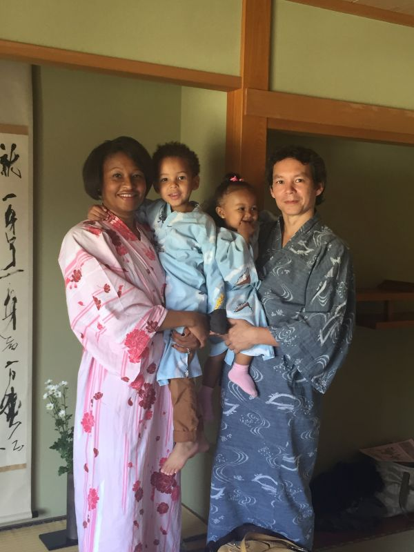 Dressed in our Kimonos at a Japanese Inn!