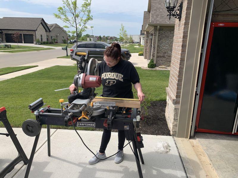 Jordan Working On a  Project