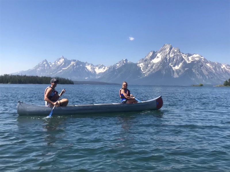 Canoeing at the Tetons
