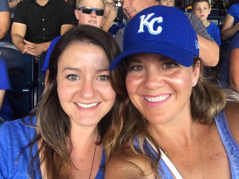 Amy & Her Sister at a Royals Game