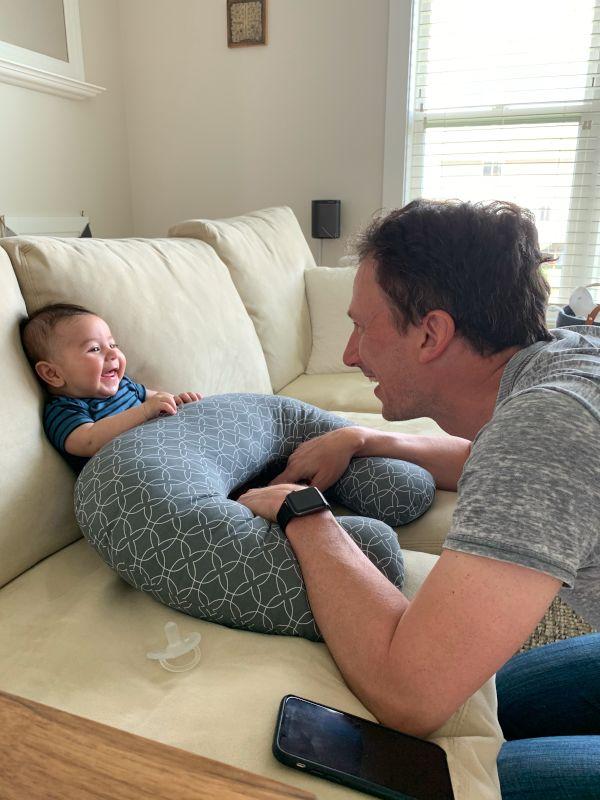 Scott Loves to Make Miles Belly Laugh