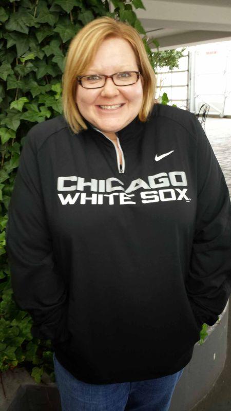 Eileen in White Sox Gear