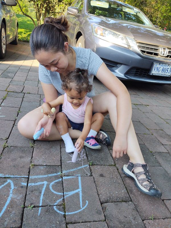 Learning Letters With Chalk