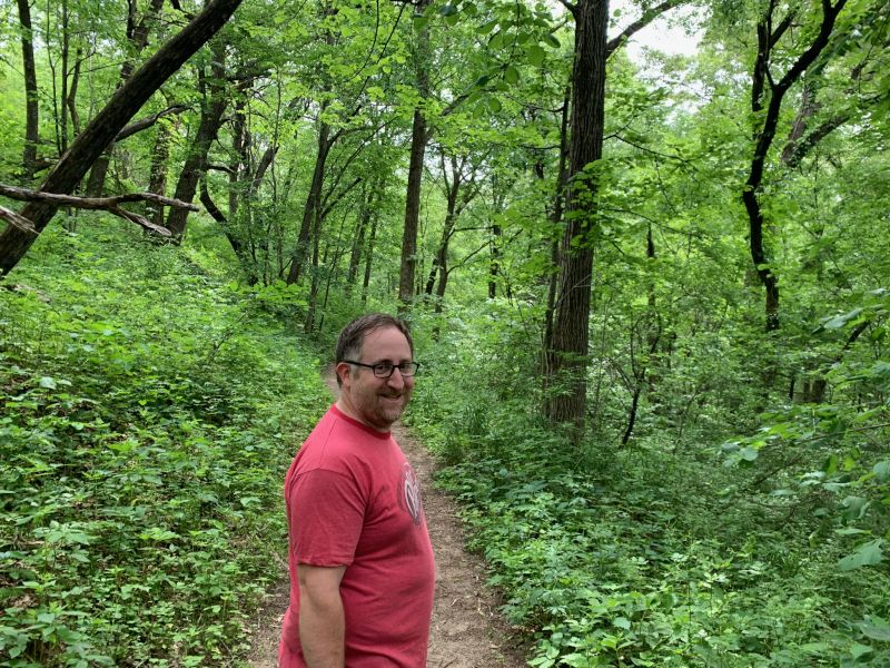 Nate on a Hike