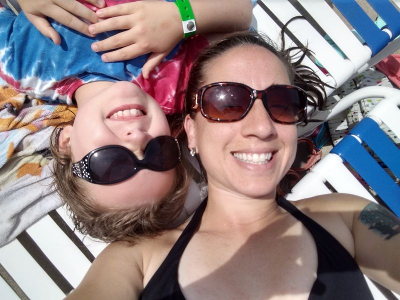 Soaking in the Sun Poolside