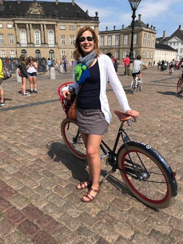 Melissa on a Bike Tour in Copenhagen