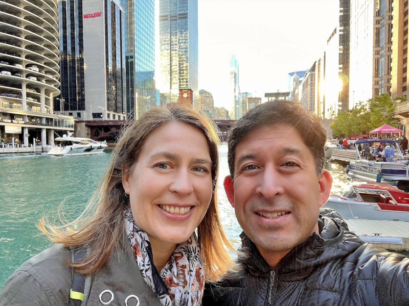 Strolling Along the Chicago River