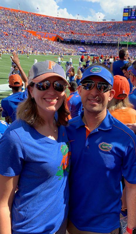 Cheering on the Florida Gators