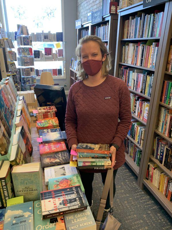 Amanda at Her Favorite Book Store