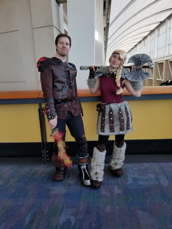 Hiccup and Astrid from 'How to Train Your Dragon'