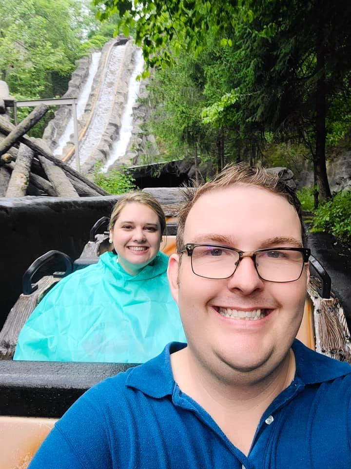 Riding the Log Flume at Dollywood
